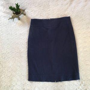 Banana Republic navy Sloan pencil skirt - 2